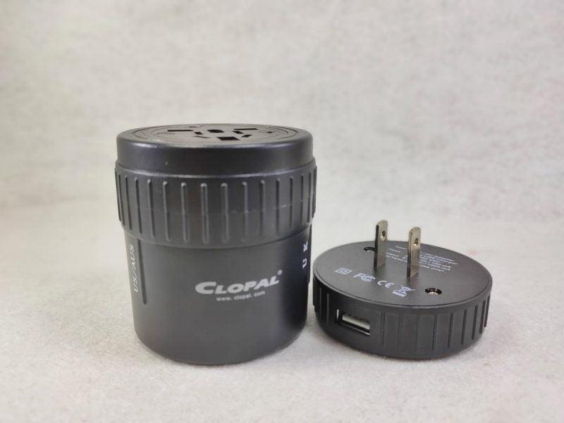 travel adaptor round multi purpose black eu us multi 2 usb detachable universal high quality 1